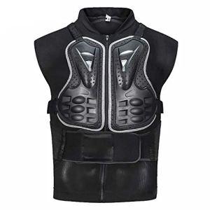 YSPORT Motocross sans Manches Armure Protecteur Poitrine Protection Dorsale Gilet Protection Combinaison Anti-Chute Armure (Color : Black, Size : XXXL)