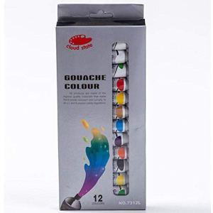 yzl Ensemble de Peinture Acrylique 12 Couleurs 12 ML Non Toxique à séchage Rapide Ensemble de Peinture à l'huile Cadeau pour Adultes