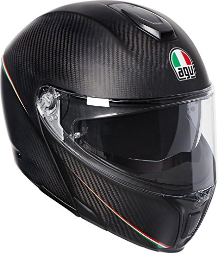 AGV Sports Modular Tricolore Mat Carbone Italie Moto Casque Taille 56
