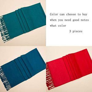Écharpe Femme Hiver Soie Couleur Pure Foulards en Soie Rouge Grand Châle Châle (Color : F)