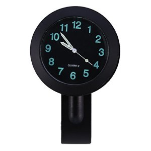 Horloge de Guidon de Moto Montre de Guidon 7/8″ Imperméable à l'Eau Noir Étanche Universelle