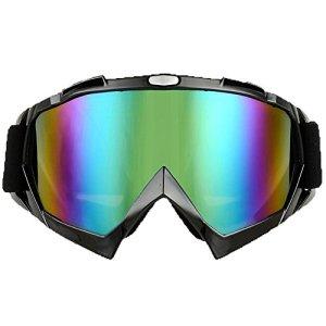 JOLIN Lunettes de protection cyclisme Moto Cross Scooter Ski Snowboard Goggles Glasses Eyewear (Black frame,tinted lens)