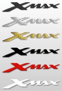 Labelbike Lot de 2autocollants/stickers en résine 3D, inscription Xmax, accessoires pour scooter Yamaha X Max rouge