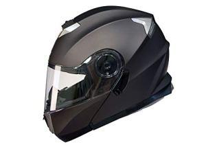 Qtech Casque Modulable Pare Soleil Interne Moto Scooter – Bronze – L (59-60cm)