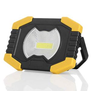 runnerequipment Portable USB Rechargeable Solar Light Lamp Work Light Flood Light for Work Camping Night Fishing