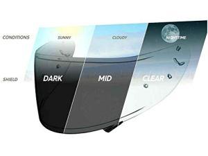 Shoei Visière photochromique avec prédisposition Pinlock casque NXR