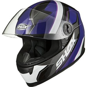 Shox Sniper Scope Motorcycle Helmet S Purple