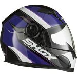 Shox Sniper Scope Motorcycle Helmet S Purple
