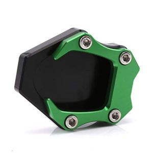 Tdz Pad stand CNC moto Side Agrandissement Plaque Béquille Extension for kawasaki ninja400 2008 (Color : Green)