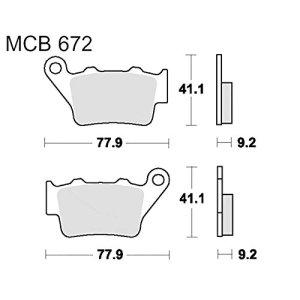 TRW Lucas MCB672EC 3322938090593 Plaquettes de frein standard Offroa