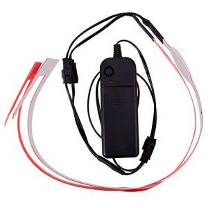 Vaorwne Moto Casque Signal de Conduite de Nuit El Kit de Casque Durable et Imperméable à l'eau Bar la Bande de Clignotant Une Mené Lumières Bar DIY Accessoires de Casque de Moto (Rouge)