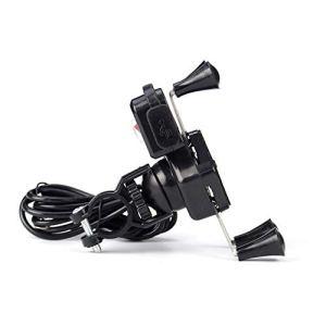 YCAZSH pour Moto Support de Portable étanche, avec Chargeur USB 360 degrés de Rotation étanche Rotating vélo Support de Guidon Sacs