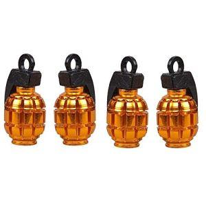 cicisame 4 pièces couleur roue de pneu valve d'air pare-chocs couvercle de plaque pour vélo de montagne valve de pneu (Gold)