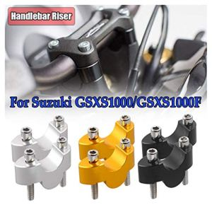 CNC Moto Barre De Serrage Cintre Guidon Guidon Risers 20mm pour Suzuki GSXS1000 GSXS1000F GSX S1000 S1000F 2015 2016 2017 2018 (Or)