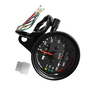 Compteur de vitesse moto compteur kilométrique double jauge de vitesse avec indicateur LCD accessoire de modification Vintage