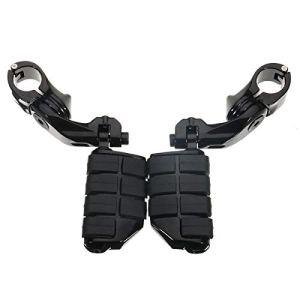 For Harley-Davidson 1.25inch / 32mm Noir Pédale réglable de longue Pegs Accessoires moto Angled Pédale En Alliage D'aluminium