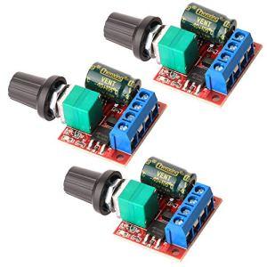 Gebildet 3 pièces Mini Moteur Contrôleur de Vitesse, PWM Regulateur de Vitesse, DC 5V-35V 5A Réglable PWM Commutateur, 6V 12V 24V Interrupteur Variateur de Vitesse avec Indicateur LED