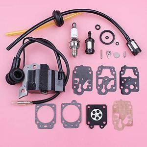 HAOHAO Bobine d'allumage de Bougie d'allumage for Honda GX35 GX 35 Filtre Carburant Ligne Grommet Carburateur Kit de réparation Tondeuse Moteur Pièce de Rechange