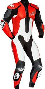 Ixon Vendetta Combinaison en cuir de moto one Piece Noir/Rouge/Blanc