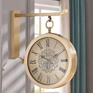 Jardin Horloge murale extérieure double face 2 en 1 Horloge Creative Deer Head Horloge, Accrocher Horloge Matériel en alliage, Convient for le salon, chambre, bureau, salle à manger, Couloir, Horloges