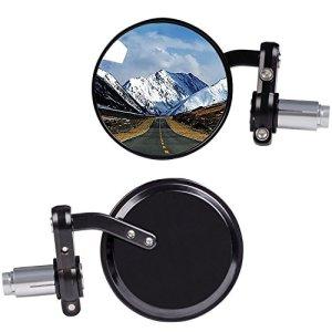 KAWELL Rétroviseurs latéraux circulaires pour Moto Miroir convexe 7/8″ Guidon Pour angle mort pour Vélo Scooters électriques Harley davidsons