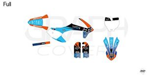 KIT Deco Motocross KTM SX 50 AOKIJI Bleu Orange 2017-2020
