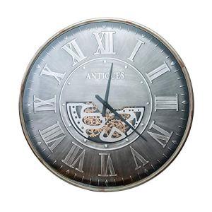 LOTOS Horloge Murale Geante Créatif Horloge Murale Engrenage Tournant en Continu Retro Personality Fer Forgé Métal Horloge Murale pour Salon/Bar/Café/Décoration,40.6 inch