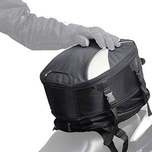 Madbike Sac de Queue de Moto Extensible imperméable, Sac de Casque Multifonctionnel Sports de Plein air Sac à Dos Sac de siège arrière Universel 28L
