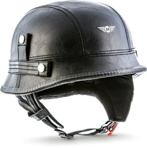 Moto Helmets D33 Casque de Moto Type Jet Demi-Coque avec Fermeture Rapide et Sac