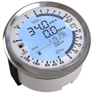 Nologo Jauge de Carburant 85mm GPS Pression d'huile Tachymètre Compteur de Vitesse Eau Temp Voltmètre de Niveau de Carburant Compteur 6 en 1 Multi-Fonctionnel for Auto Bateau QPLNTCQ