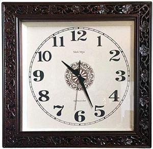 Place Horloge Murale Classique Extérieur 24Dans / Design D'intérieur Avec Grand Visage Accrocher Horloge.Convient For Le Jardin, Cuisine, Salle De Bains Et Plus Horloges Pour