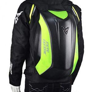 Sac à dos de moto sac à dos à coque rigide pour hommes en fibre de carbone étanche Kawasaki sac à dos sac d'équitation sac à dos de moto sac à dos de vélo sac à dos de sport pour hommes MTB