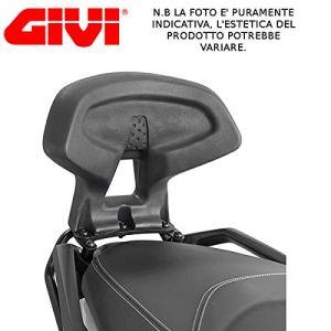 TB3106schienalino Givi Dossier Passager pour Suzuki Burgman 1252012Dos Noir