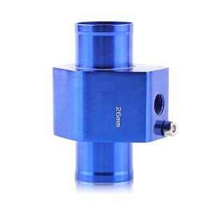Adaptateur de Capteur de Température, Keenso Sonde Température de l'Eau Joint de Tuyau de Radiateur Universel en Alliage Aluminium 26mm – 40mm Bleu (26MM)