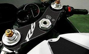 Adhésif 3D Compatible avec Moto Yamaha R6 2006-2015 Protection Plaque Fourche