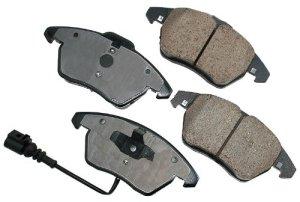 Akebono EUR1107 EURO Ultra-Premium Ceramic Brake Pad Set by Akebono
