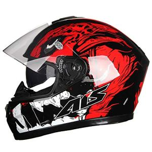 Allround Helmets intégré Modulable Autobike Casques, Full Face Casque Motointégraux Motocross Casque Cross avec Anti-buée Double Visière Scooter Cruiser Biker Retro Chopper ECE Certification