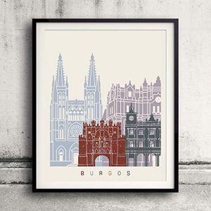 Burgos skyline poster Papel Fotográfico 30×40 cms