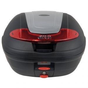 Givi E340N Vision Monolock Topcase avec une Plaque, Noir uni