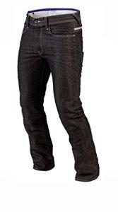 Juicy Trendz Hommes Motorcycle Moto Pantalon Motards Jeans Renforcée Aramide Protection, Noir, 36W / 34L
