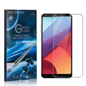 MelinHot Verre Trempé pour LG G6, Dureté 9H Ultra Résistant Protection en Verre Trempé Écran, sans Bulles, Installation Facile, 1 Pièces