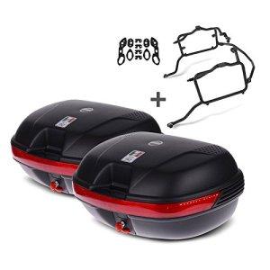 Paire de valises latérales Set Honda NC 700 X 12-13 Givi Monokey E360N noir, kit adapteur inclu