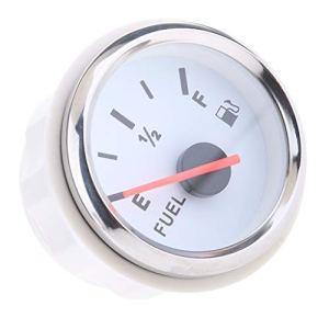 Shiwaki Jauge de Carburant Numérique pour Bateau en Acier Inoxydable 316 – Blanc, 52 mm
