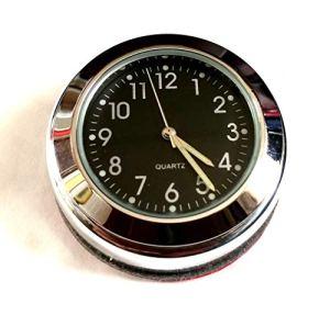 Time 4 Bikes Royal Enfield Interceptor & ‿Continental GT Cache écrou de Tige avec Horloge (Cadran Noir)