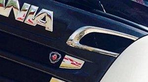 2x Miroir en acier inoxydable Upper garnir Scania R P 2010-2016OEM 18705951870596