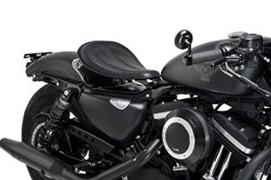 Customaccess AZ2489N Selle Solo Customacces Modèle Columbia Noir avec Ressorts pour Harley Davidson Sportster 1200N Nighster XL1200N 10′-12′