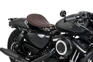 Customaccess AZ2511N Selle Solo Customacces Modèle Columbia Marron avec Ressorts pour Harley Davidson Roadster XL883R 05′-06′
