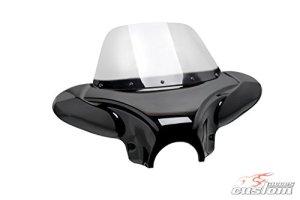 Customaccess AZ3136N Para-Brise Batwing Customacces Fumé Claire pour Indian Scout Bobber 18′-20′