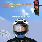 FLOX Casque Anti Fog Patch Universel Moto Casque Complet Protection Complète Véhicule Casque Demi-Casque Anti Fog Objectif Autocollant