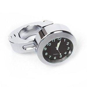 Horloge de Moto Numérique Montage de Guidon Imperméable Argent